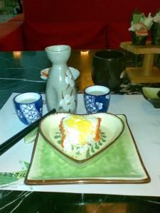 可以一起吃漂亮美味的情侣寿司